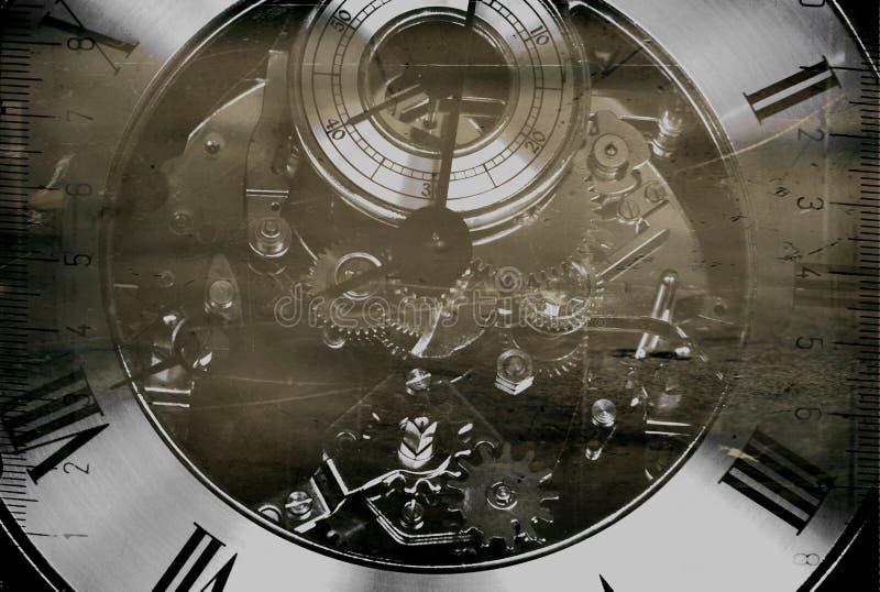 Vieille horloge abstraite grunge illustration stock