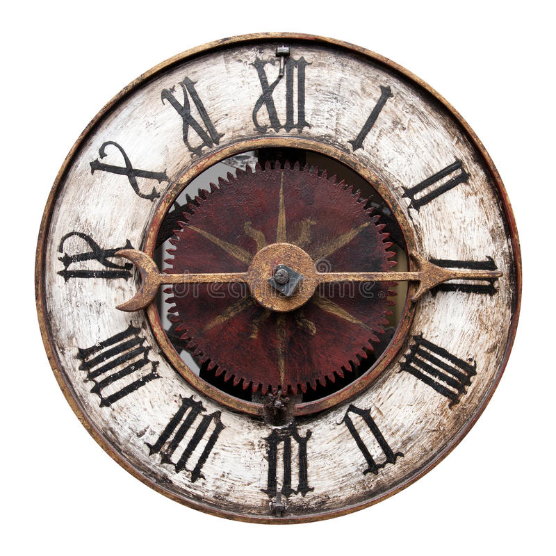 Vieille horloge antique image stock