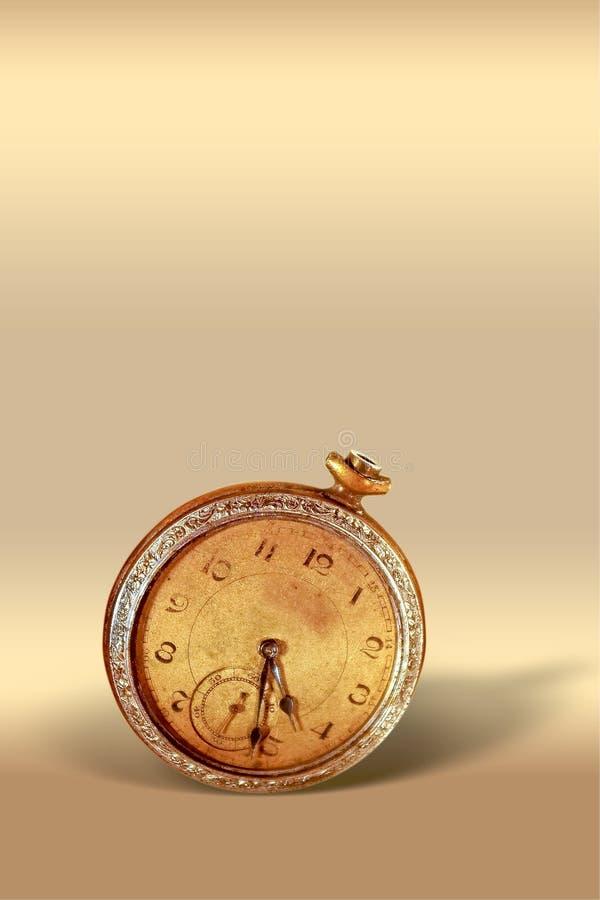 Vieille horloge de poche photographie stock libre de droits