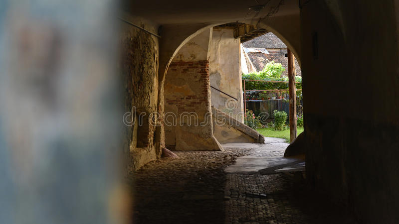 Vieille hutte à Sibiu, la Transylvanie, Roumanie photos libres de droits