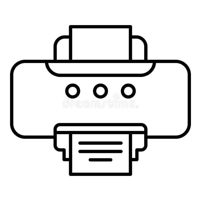 Vieille icône d'imprimante, style d'ensemble illustration stock
