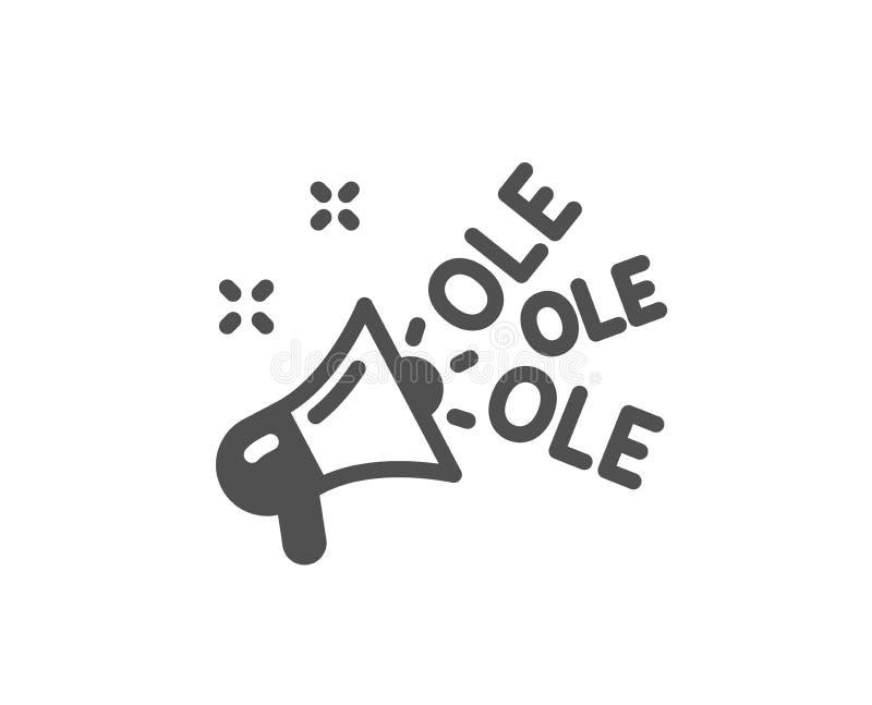 Vieille icône de chant Championnat avec le signe de mégaphone Manifestation sportive Vecteur illustration stock