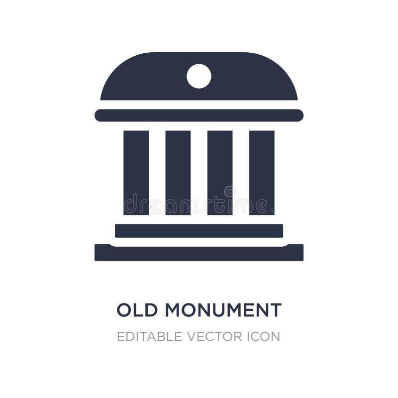 vieille icône de monument sur le fond blanc Illustration simple d'élément de concept de bâtiments illustration libre de droits