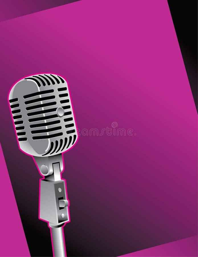 Vieille illustration de microphone illustration stock