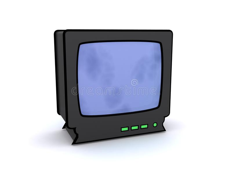 Vieille illustration de TV illustration stock