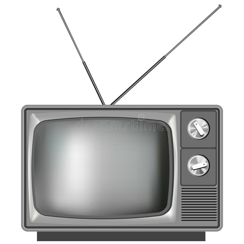 Vieille illustration réaliste de télévision de TV illustration de vecteur