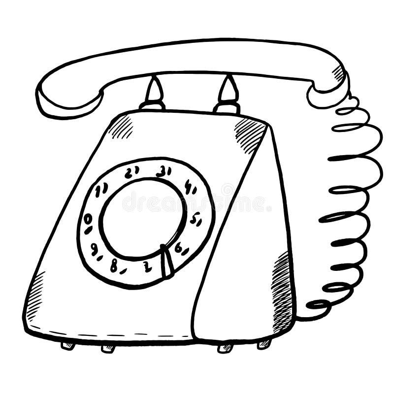 Vieille illustration rotatoire de téléphone illustration de vecteur