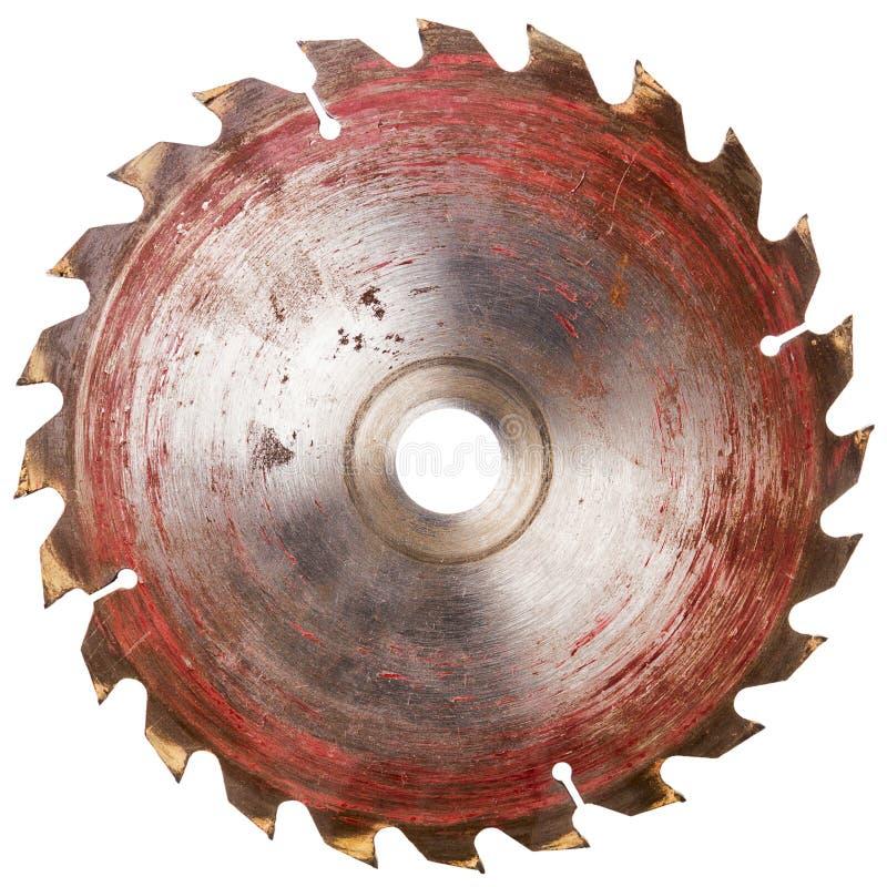 Vieille lame de scies circulaire photo stock