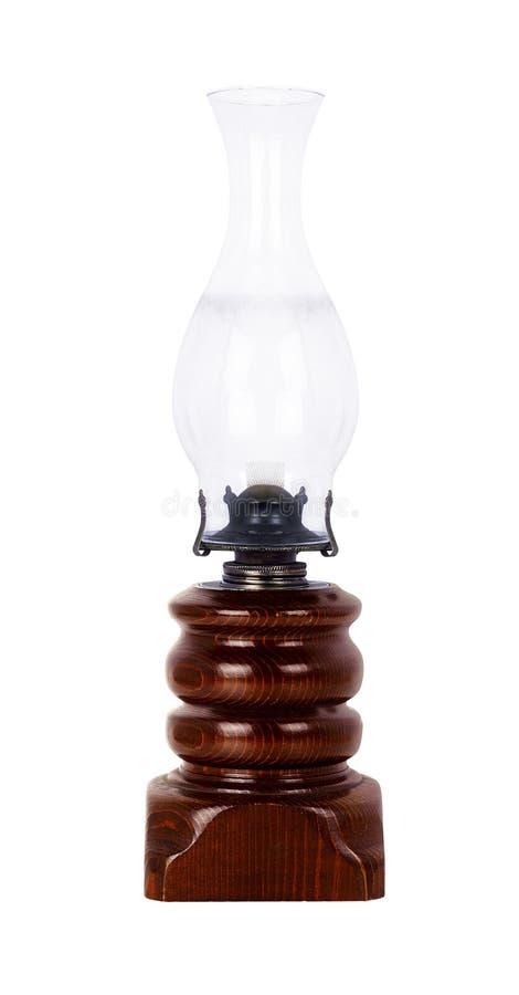 Vieille lampe à pétrole poussiéreuse d'isolement sur le blanc photographie stock libre de droits