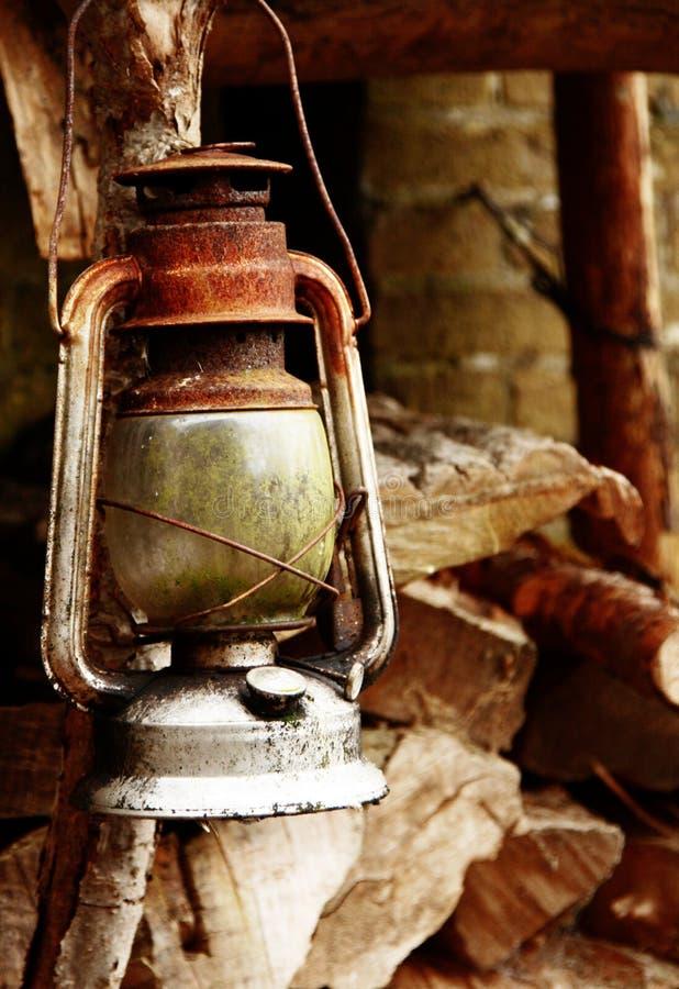 Vieille lampe image stock