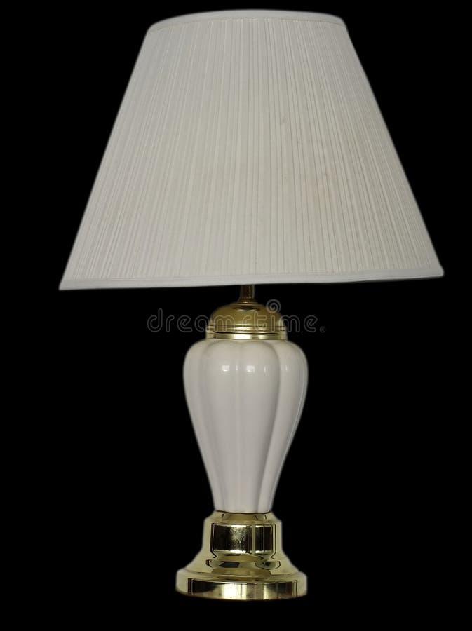 vieille lampe de bureau avec l 39 abat jour image stock image du fond blanc 6877615. Black Bedroom Furniture Sets. Home Design Ideas