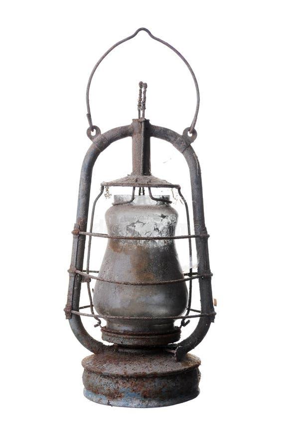 Vieille lampe de kérosène. photo stock