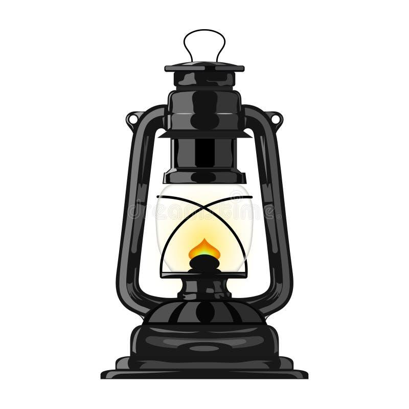 Vieille lampe de kérosène. eps10 illustration de vecteur