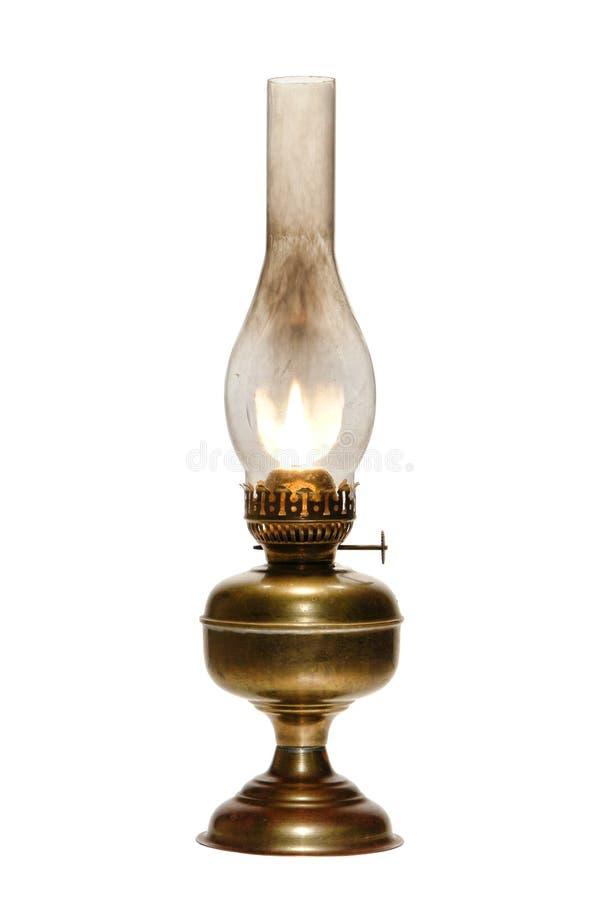 Vieille lampe de lanterne d'huile d'ouragan d'isolement sur le blanc image stock