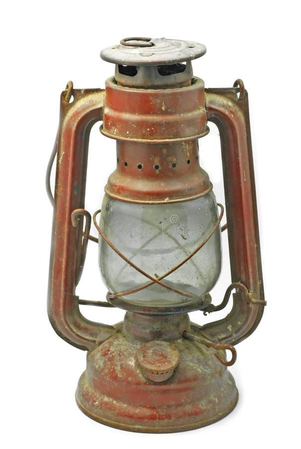 Vieille lampe rouge photographie stock libre de droits