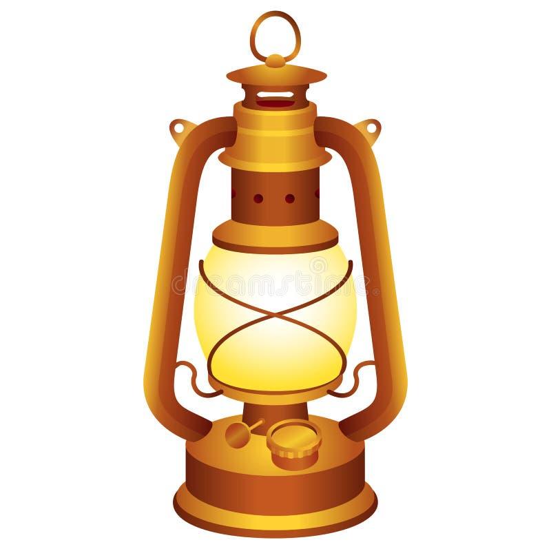 Vieille lanterne illustration de vecteur