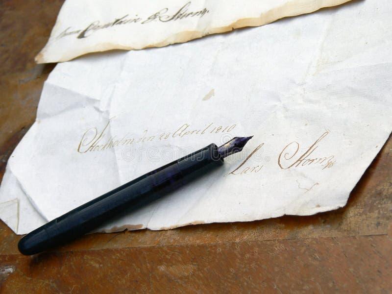 Vieille lettre photos libres de droits