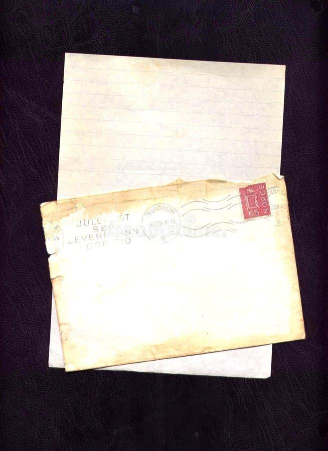 Vieille lettre photo libre de droits