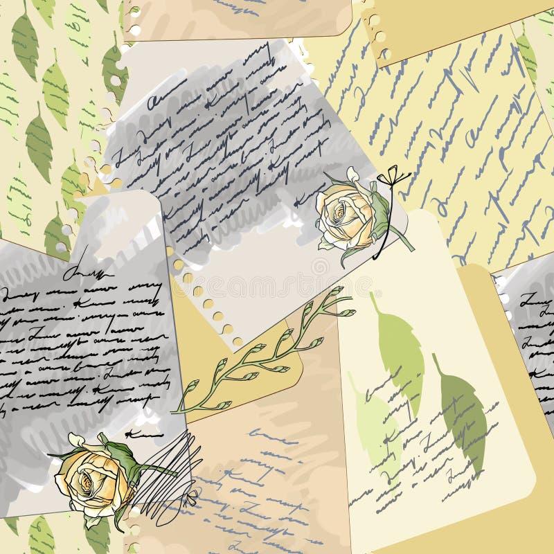 Vieille lettre d'amour sans joint illustration libre de droits