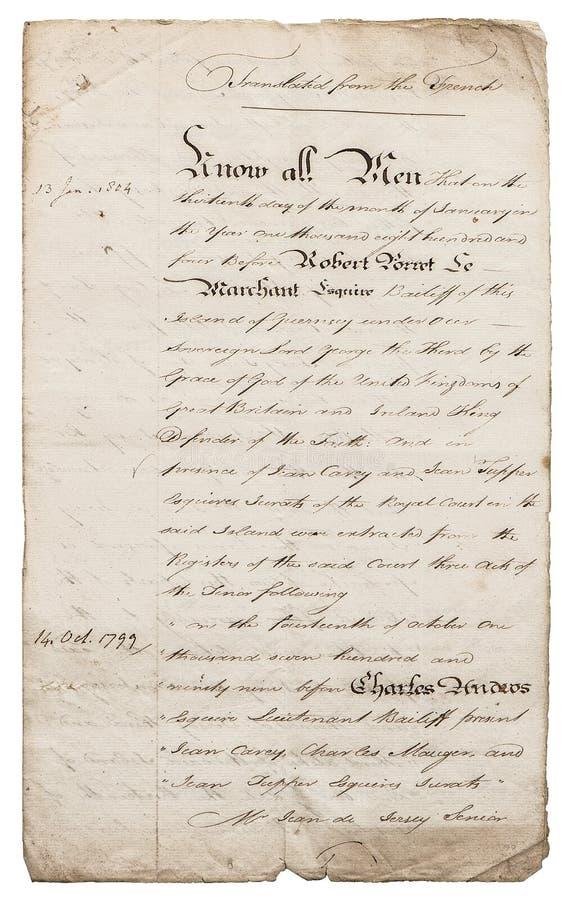 Vieille lettre manuscrite manuscrit Fond de papier avec des bords photographie stock libre de droits
