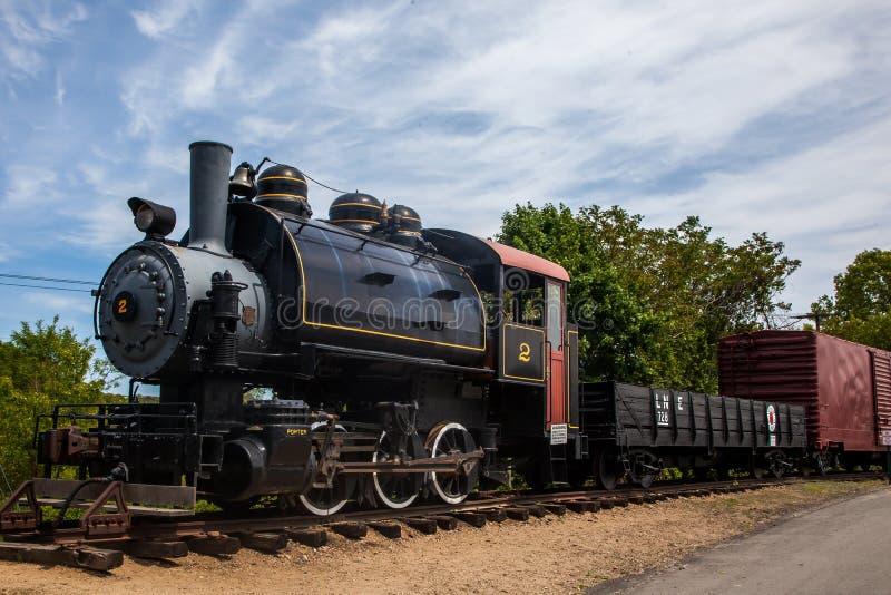 Vieille locomotive de train de vapeur photo stock