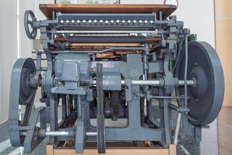 Vieille machine de presse photo libre de droits