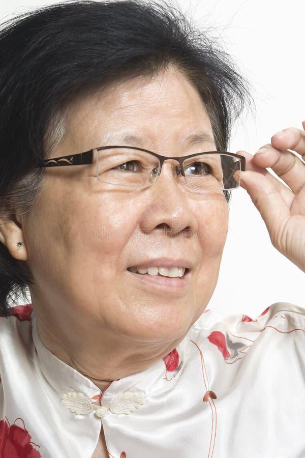 Vieille Madame asiatique images libres de droits