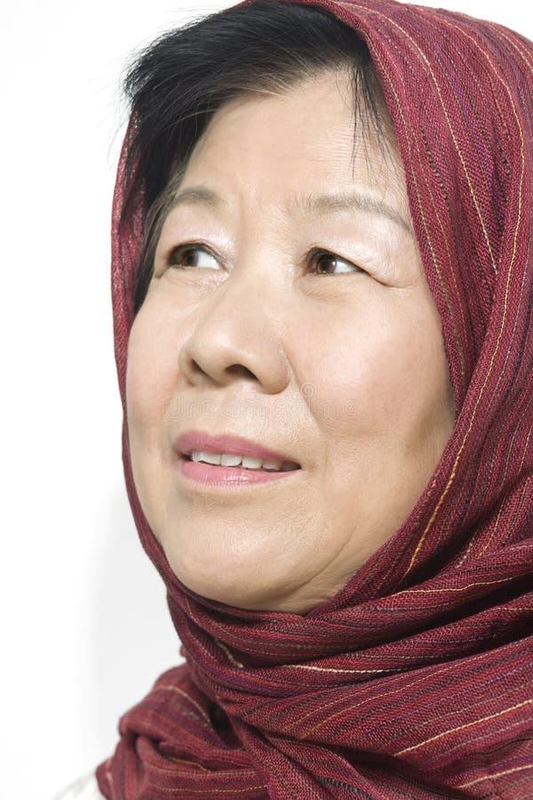 Vieille Madame asiatique image libre de droits