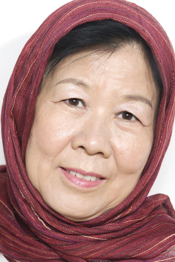 Vieille Madame asiatique photographie stock libre de droits