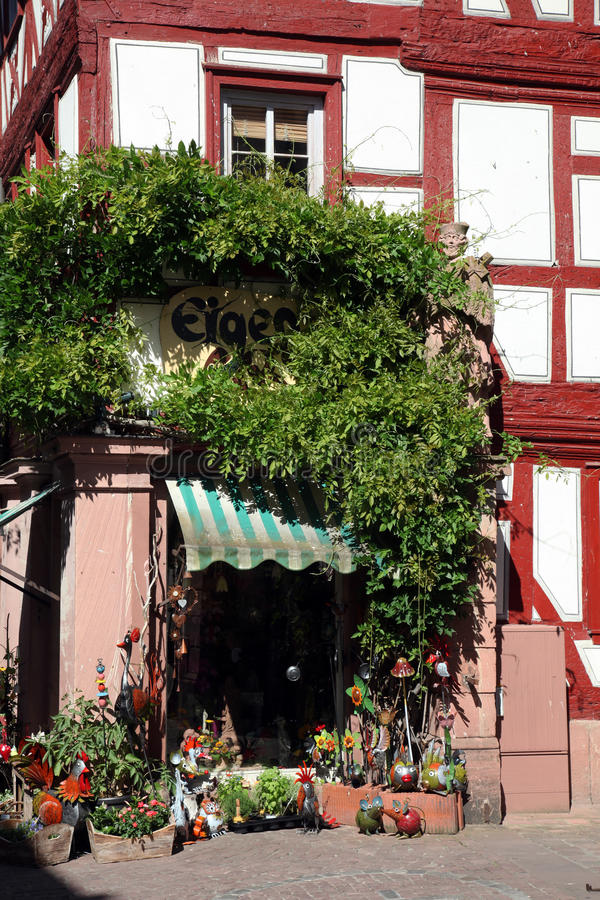Vieille maison à colombage dans Miltenberg image stock