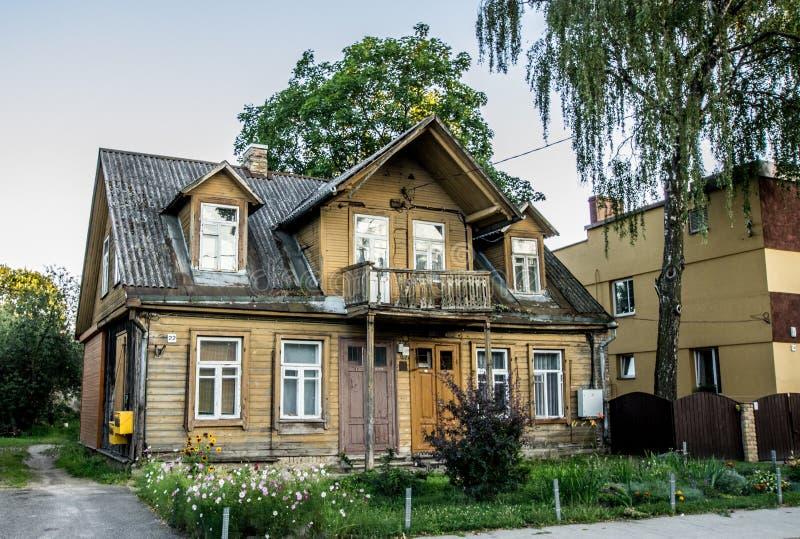 Vieille maison à Vilnius image stock