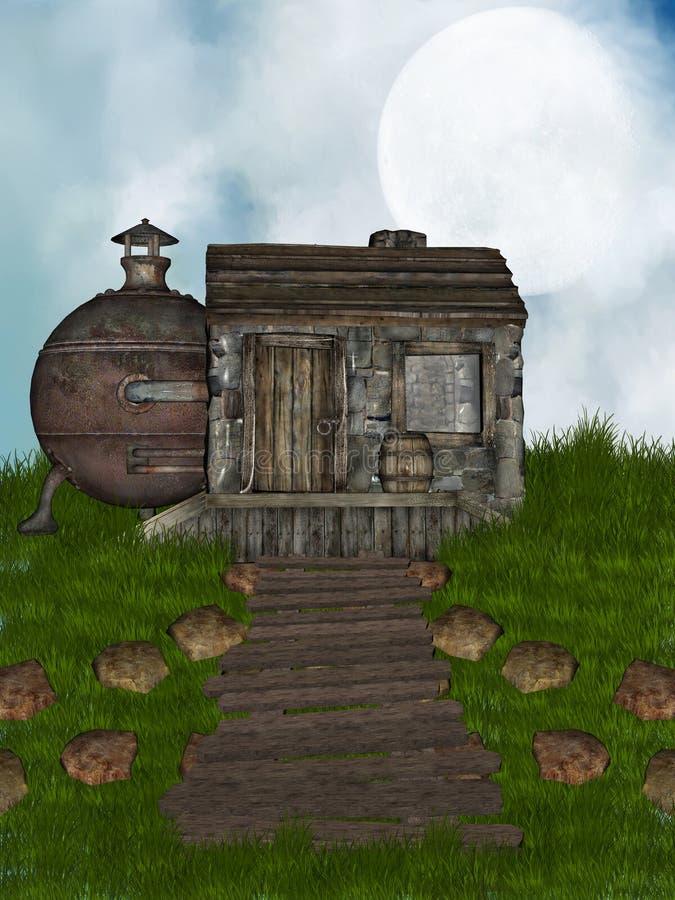Vieille maison illustration libre de droits