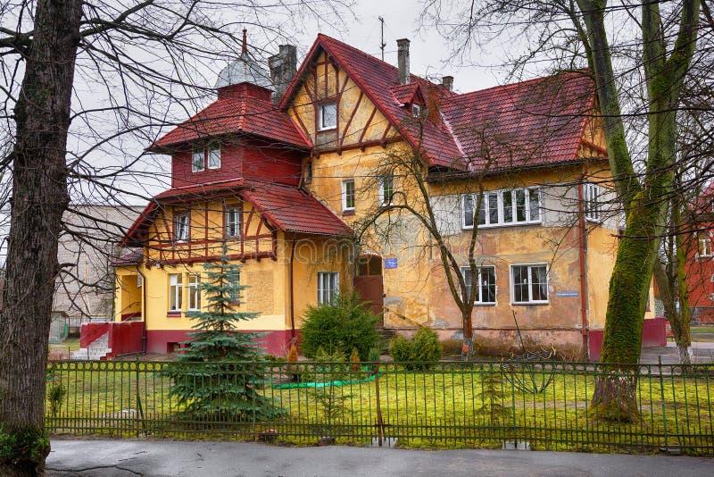 Vieille maison allemande dans l'ancien königsberg de Kaliningrad photographie stock libre de droits