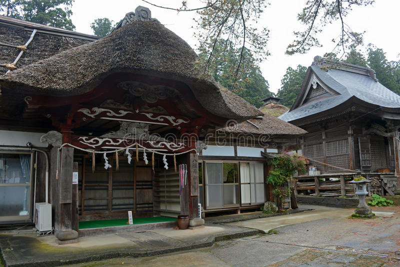 Vieille maison au bâti Haguro image stock