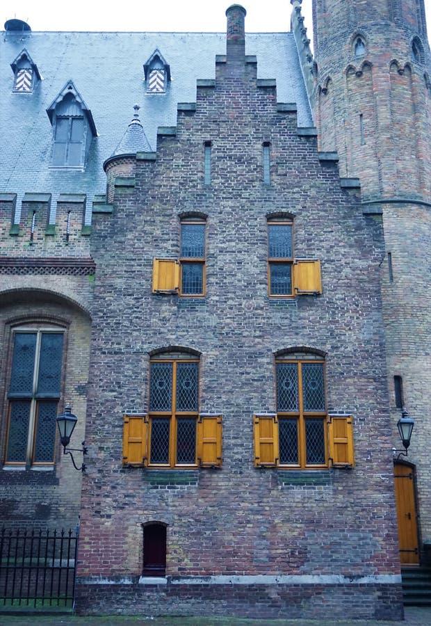 Vieille maison dans le Binnenhof photos libres de droits
