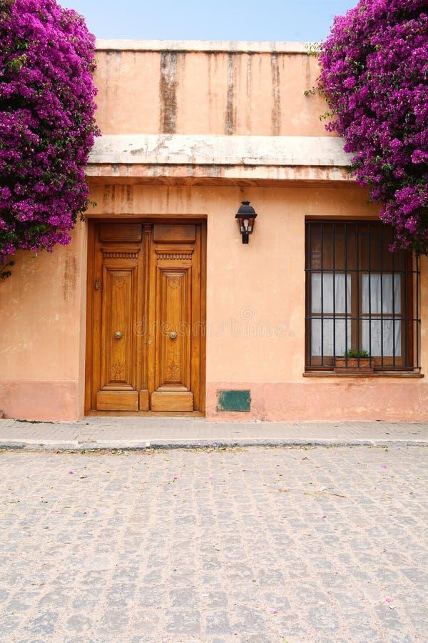 Vieille maison dans le del Sacramento, Uruguay de Colonia image libre de droits
