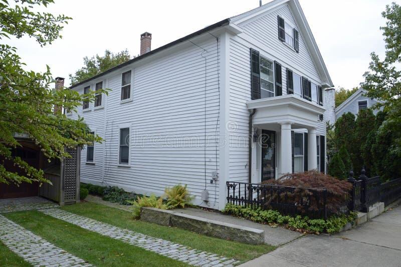 Vieille maison dans Stonington le Connecticut photos stock