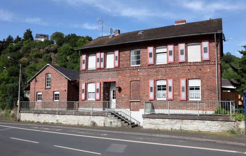 Vieille maison de brique rouge image libre de droits