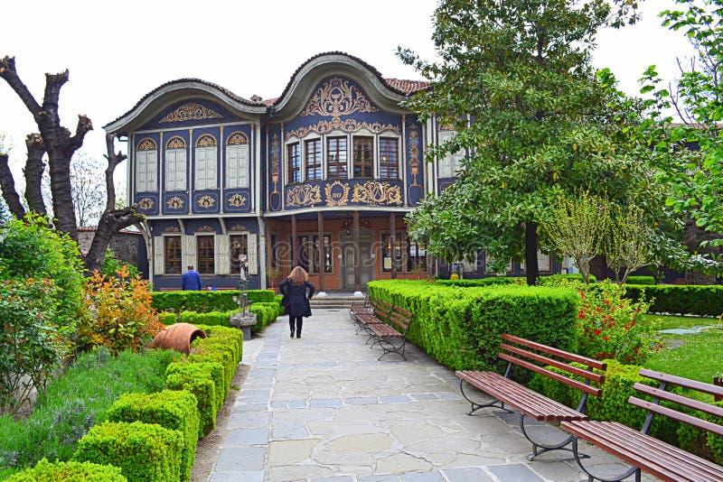 Vieille maison de la Renaissance, Plovdiv photographie stock