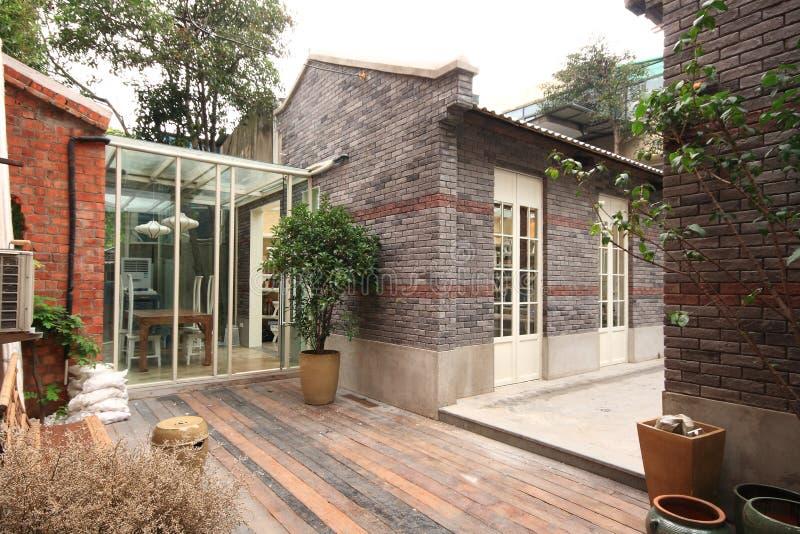 Vieille maison de voie à Changhaï photo stock