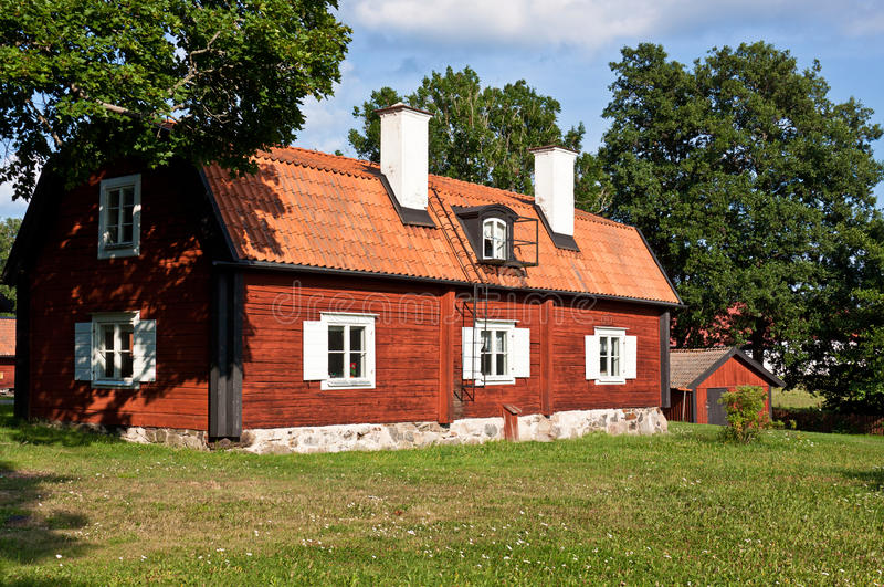 Vieille maison en bois. photographie stock