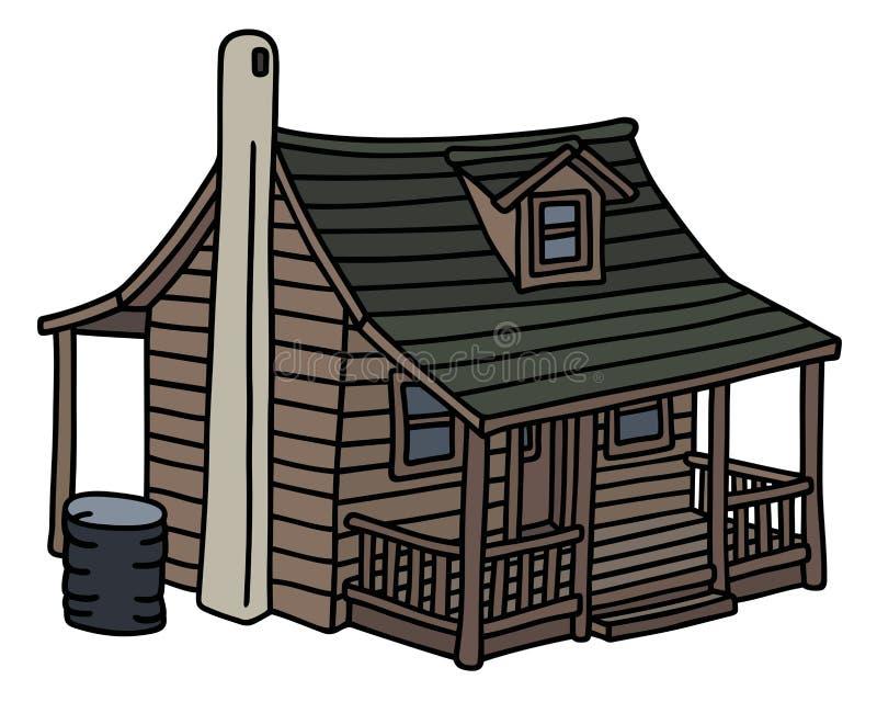 Vieille maison en bois illustration stock