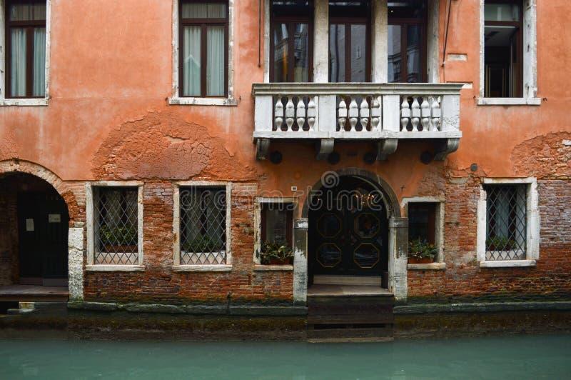 Vieille maison typique à Venise images libres de droits