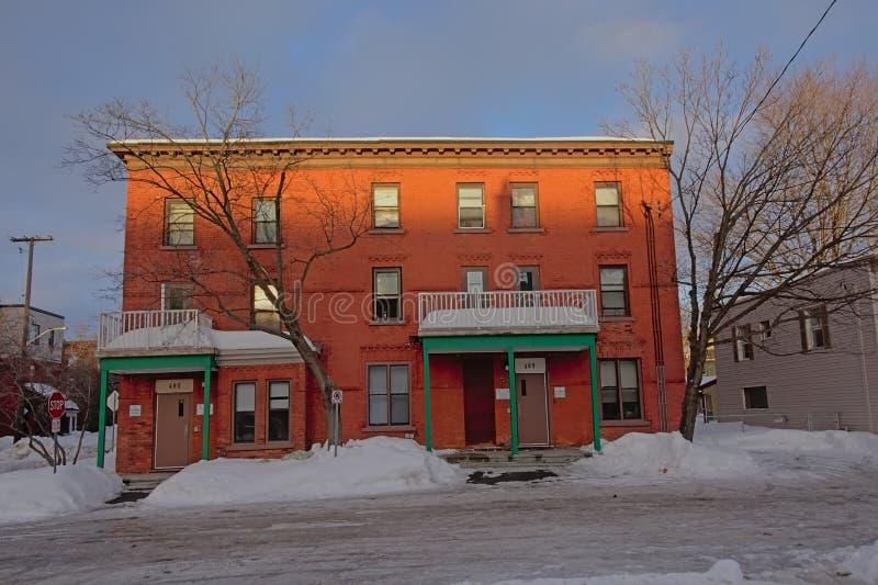Vieille maison typique de brique d'Ottawa photo libre de droits
