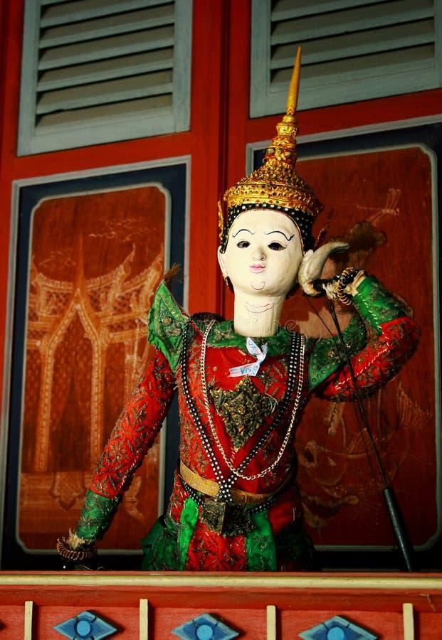Vieille marionnette thaïe images libres de droits
