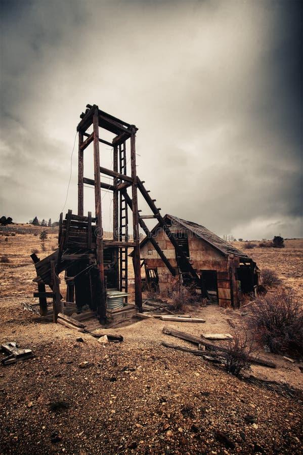 Vieille mine abandonnée dans le Colorado image stock