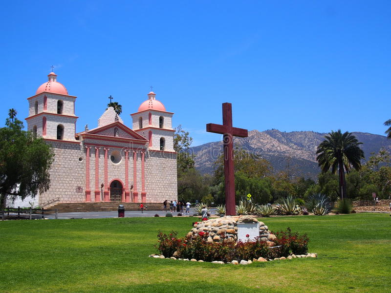 Vieille mission Santa Barbara California images stock