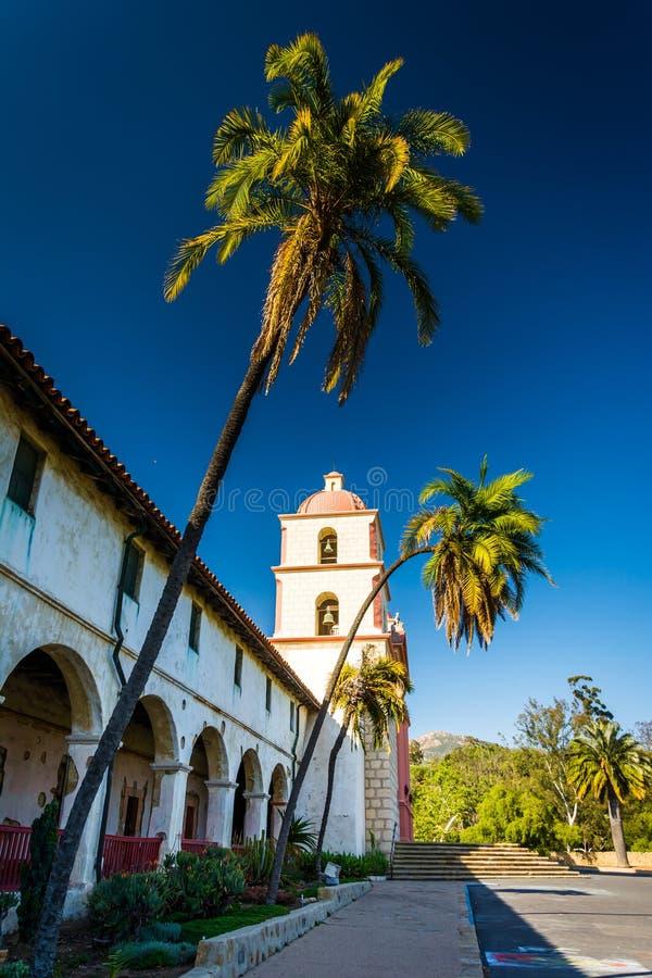 Vieille mission Santa Barbara, en Santa Barbara, la Californie image libre de droits