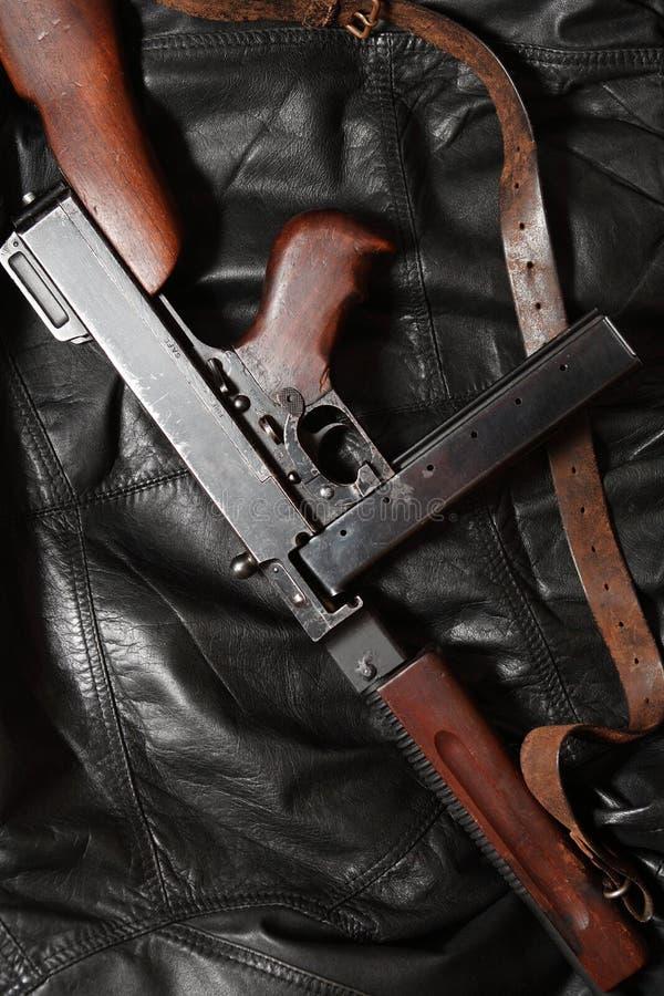 Vieille mitraillette des Etats-Unis photo stock
