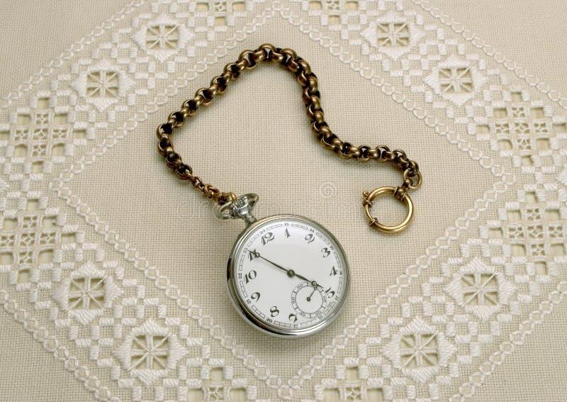 Vieille montre de poche images stock